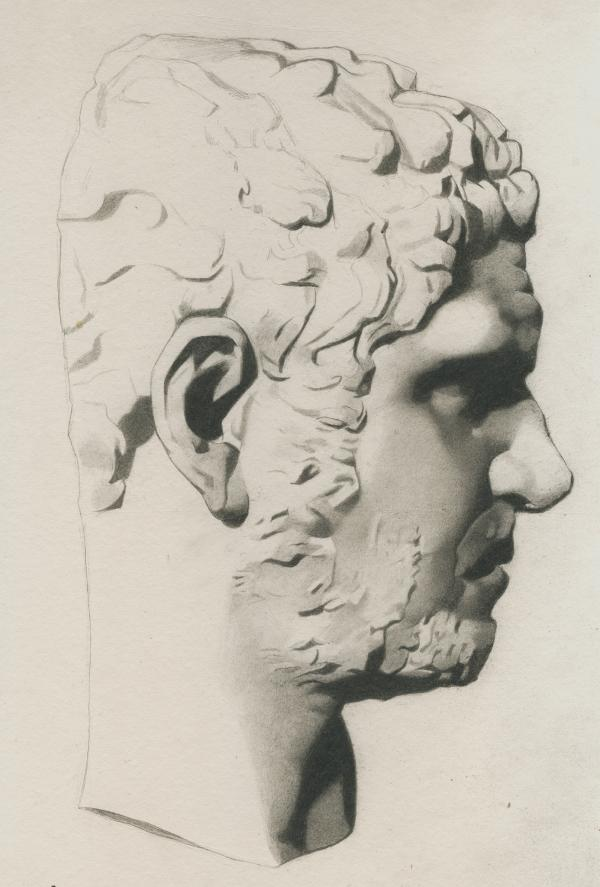 Bargue Plate I, 038 - Caracalla (unfinished)